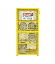 "Durham Steel EGCC8-50 30"" W x 30"" D x 72"" H Horizontal Gas Cylinder Cabinet, Holds 8 Cylinders"