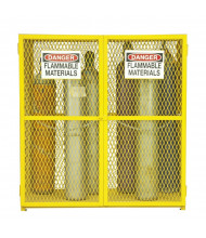 "Durham Steel EGCVC18-50 60"" W x 30"" D x 72"" H Vertical Gas Cylinder Cabinet, Holds 18 Cylinders"
