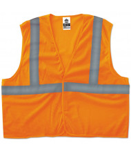 ergodyne GloWear 8205HL Type R Class 2 Super Econo Mesh Vest, Orange, L/XL