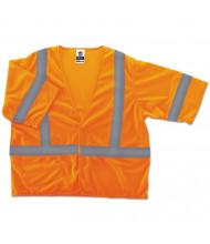 ergodyne GloWear 8310HL Type R Class 3 Economy Mesh Vest, Orange, S/M