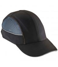ergodyne Skullerz 8960 Bump Cap w/LED Lighting Technology, Long Brim, Black