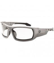 Ergodyne Skullerz Odin Safety Glasses, Gray Frame/Clear Lens, Anti-Fog, Nylon/Polycarb