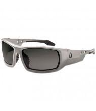 Ergodyne Skullerz Odin Safety Glasses, Gray Frame/Smoke Lens, Anti-Fog, Nylon/Polycarb