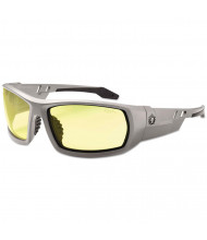 Ergodyne Skullerz Odin Safety Glasses, Gray Frame/Yellow Lens, Nylon/Polycarb