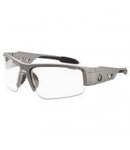 Ergodyne Skullerz Dagr Safety Glasses, Matte Gray Frame/Clear Lens, Nylon/Polycarb