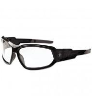ergodyne Skullerz Loki Safety Glass/Goggle, Black Frame/Clear Lens, AF, Nylon/Polycarb
