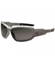 ergodyne Skullerz Loki Safety Glass/Goggle, Matte Gray Frame/Smoke Lns, AF, Nylon/Polycarb