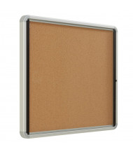 Quartet Indoor 3' x 2' Silver Frame Cork Bulletin Board