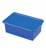 ECR4Kids Stack & Store Plastic Tub with Lid, 6 Pack (Shown in Blue)