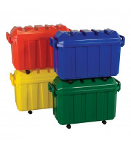 ECR4Kids 18-Gallon Stackable Classroom Storage Trunk, Assorted, 4 Pack