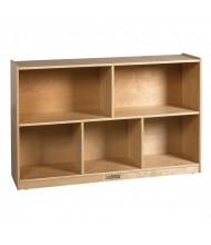 "ECR4Kids Birch 5-Section 30"" H Classroom Storage Cabinet"