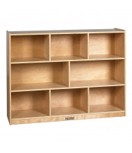 "ECR4Kids Birch 8-Section 36"" H Classroom Storage Cabinet"