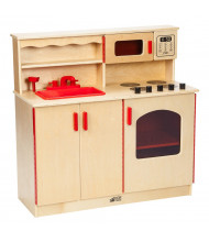 ECR4Kids Birch Play Kitchen Oven and Sink