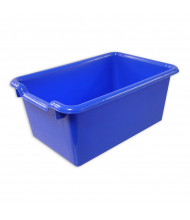 ECR4Kids Scoop Front Plastic Storage Bins, 10 Pack (Shown in Blue)