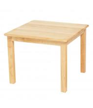 """ECR4Kids 24"""" D Square Hardwood Elementary School Table"""