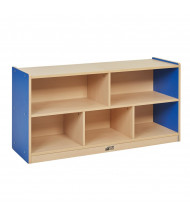 """ECR4Kids Colorful Essentials 24"""" H 5-Section Storage Cabinet (Shown in Blue)"""