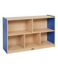 """ECR4Kids Colorful Essentials 30"""" H 5-Section Storage Cabinet (Shown in Blue)"""