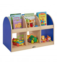 "ECR4Kids Colorful Essentials 36"" W Toddler Double Sided Book Stand (Shown in Blue)"