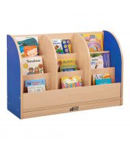 "ECR4Kids Colorful Essentials 36"" W Toddler Book Stand (Shown in Blue)"