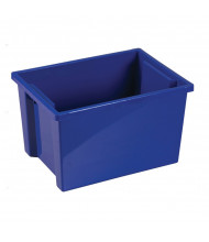 ECR4Kids Large Plastic Storage Bins, 6 Pack (Shown in Blue)
