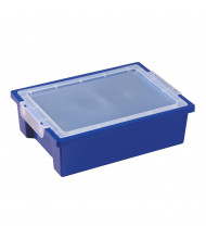 ECR4Kids Small Plastic Storage Bins with Lids, 6 Pack (Shown in Blue)