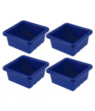 ECR4Kids Square Plastic Classroom Storage Tray, Pack of 4 (Shown in Blue)
