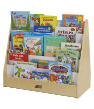"ECR4Kids Pic-A-Book 32.25"" W Birch Book Stand"