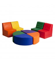 ECR4Kids SoftZone 8-Piece Sectional Chair and Table Set