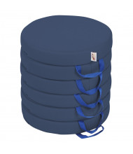 ECR4Kids SoftZone Round Floor Cushion, 6-Pack (Shown in Navy)
