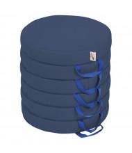 ECR4Kids SoftZone Round Floor Cushion, 6-Pack (Shown in Navy)