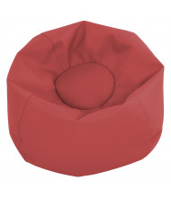 "ECR4Kids SoftZone 11"" H Round Preschool Bean Bag Chair (Shown in Red)"