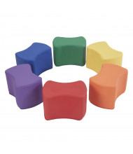 ECR4Kids SoftZone Butterfly Preschool Stool, 6-Pack (Shown in Assorted)
