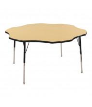 "ECR4Kids 60"" D Flower Adjustable Classroom Activity Table (Shown in Maple / Black)"