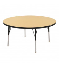 "ECR4Kids 36"" D Round Adjustable Classroom Activity Table (Shown in Maple / Black)"