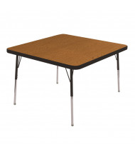 "ECR4Kids 30"" x 30"" Square Adjustable Classroom Activity Table (Shown in Oak / Black)"