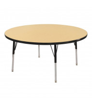 "ECR4Kids 30"" D Round Adjustable Classroom Activity Table (Shown in Maple / Black)"