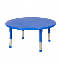 """ECR4Kids 45"""" Round Resin Adjustable Activity Table (Shown in Blue)"""