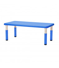 "ECR4Kids 48"" x 24"" Resin Adjustable Activity Table (Shown in Blue)"