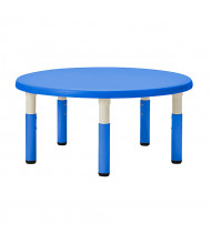 "ECR4Kids 45"" Round Resin Adjustable Activity Table (Shown in Blue)"
