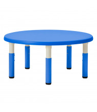 "ECR4Kids 45"" Dia. Round Resin Height Adjustable Classroom Activity Table (Shown in Blue)"
