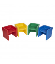 ECR4Kids Tri-Me Preschool Chair, 4-Pack, Assorted