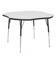 """ECR4Kids 48"""" W Clover-Shaped Dry Erase Adjustable Activity Table (Shown in Swivel Glides)"""