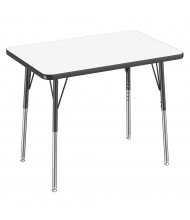 "ECR4Kids 36"" W x 24"" D Dry Erase Adjustable Activity Table (Shown with Swivel Glides)"