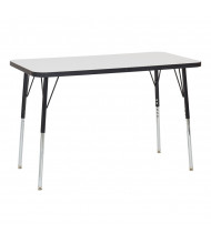 """ECR4Kids 48"""" W x 24"""" D Dry Erase Adjustable Activity Table (Shown with Swivel Glides)"""