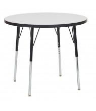 """ECR4Kids 36"""" Dia. Round Dry Erase Adjustable Activity Table (Shown with Swivel Glides)"""