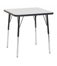 "ECR4Kids 30"" D Square Dry Erase Adjustable Activity Table (Shown with Swivel Glides)"