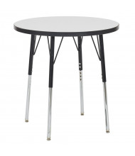 """ECR4Kids 30"""" Dia. Round Dry Erase Adjustable Activity Table (Shown with Swivel Glides)"""