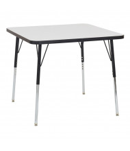 "ECR4Kids 36"" D Square Dry Erase Adjustable Activity Table (Shown with Swivel Glides)"
