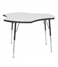 "ECR4Kids Collaboration 48"" W Cog-Shaped Dry Erase Adjustable Activity Table (Shown with Swivel Glides)"