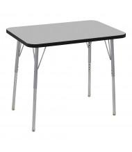 "ECR4Kids Contour 36"" W x 24"" D Adjustable Activity Table (Shown in Grey)"